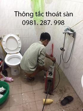 Thợ thông tắc thoát sàn chuyên nghiệp tại Hà Nội