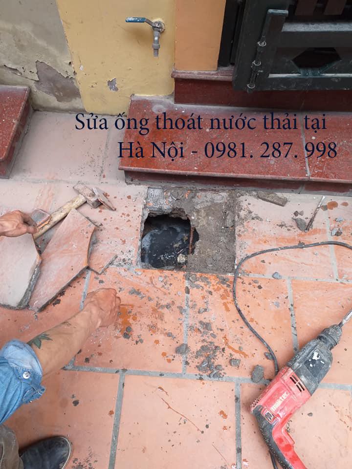 sửa ống thoát nước thải