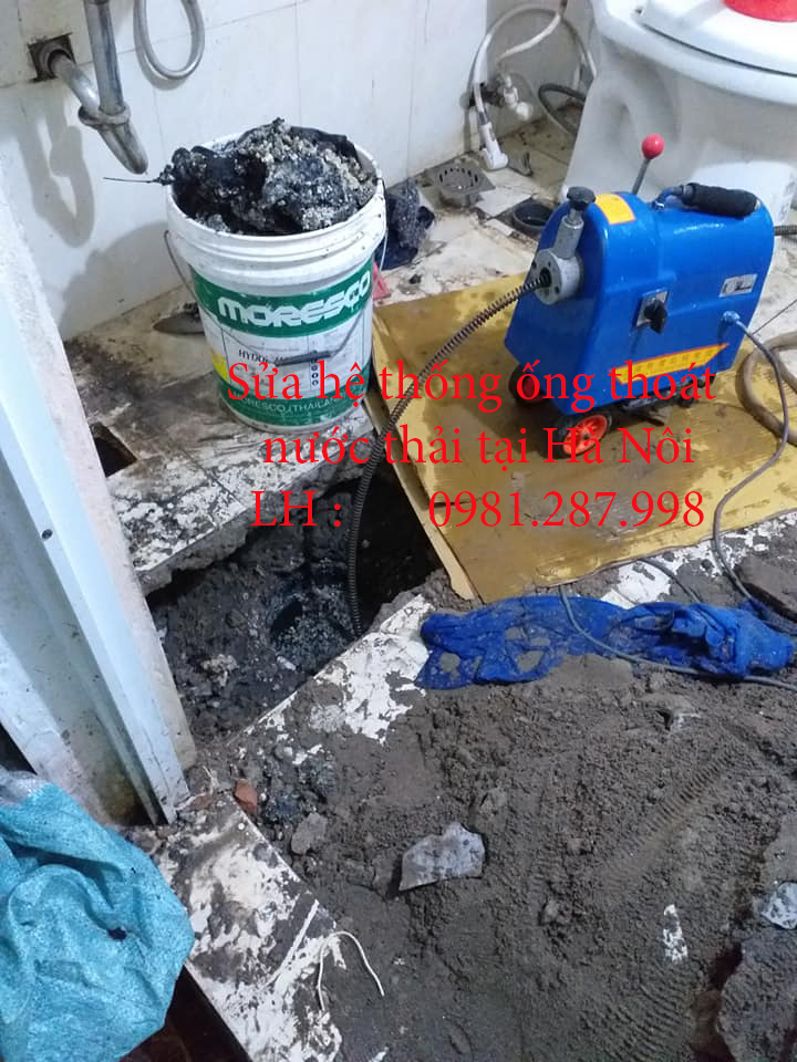 Sửa ống thoát nước thải tại tất cả các vị trí trong ngôi nhà.